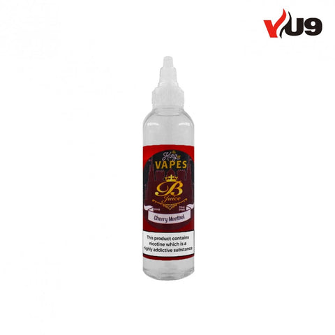 King of Vapes 100ml 0mg E-Liquid Cherry Menthol with 2x 10ml Nicshots - UK VAPE WORLD