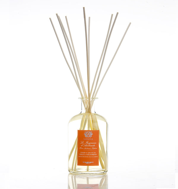Antica Farmacista's Fragrance Diffuser in Orange Blossom, Lilac, and Jasmine, sold by SFERRA