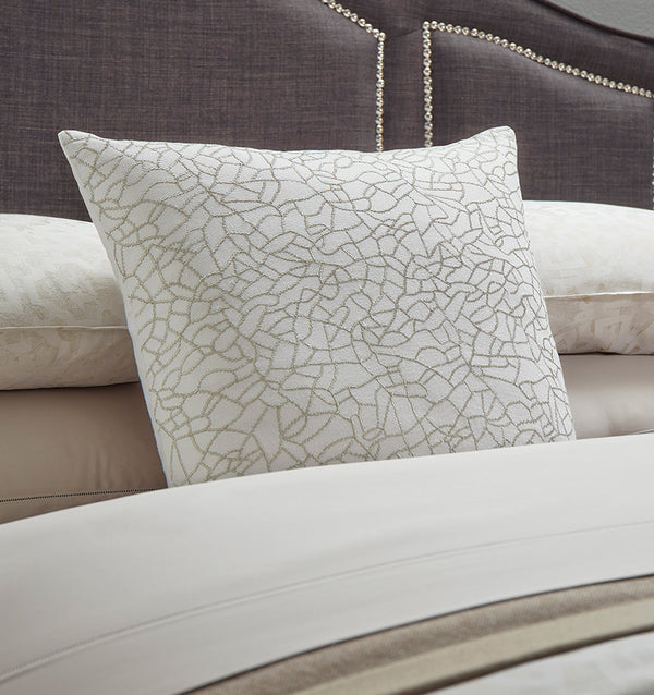 SFERRA Cortona Beaded Embellished Decorative Pillow