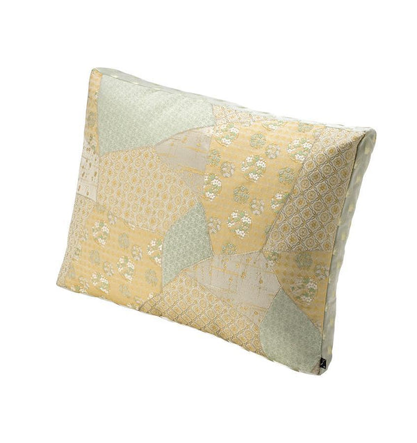 K3 for SFERRA Green & Ivory Floral Patchwork Decorative Pillow