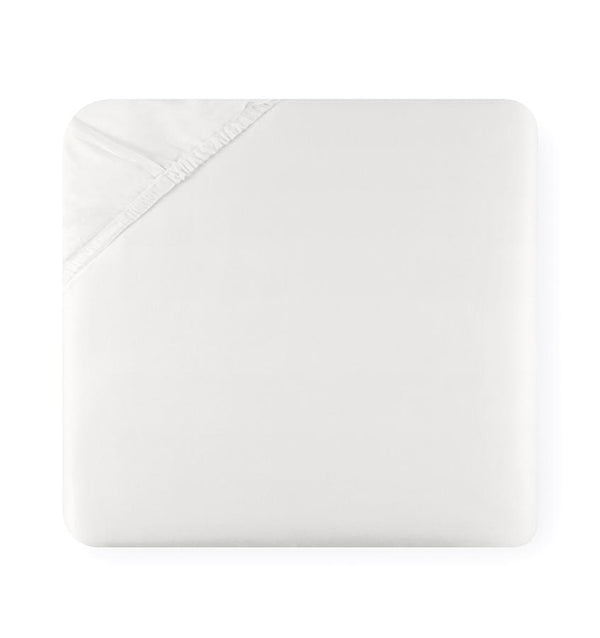 An ivory K3 for SFERRA fitted sheet against a white background.