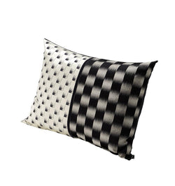 K3 for SFERRA Black and White Sateen Decorative Pillow