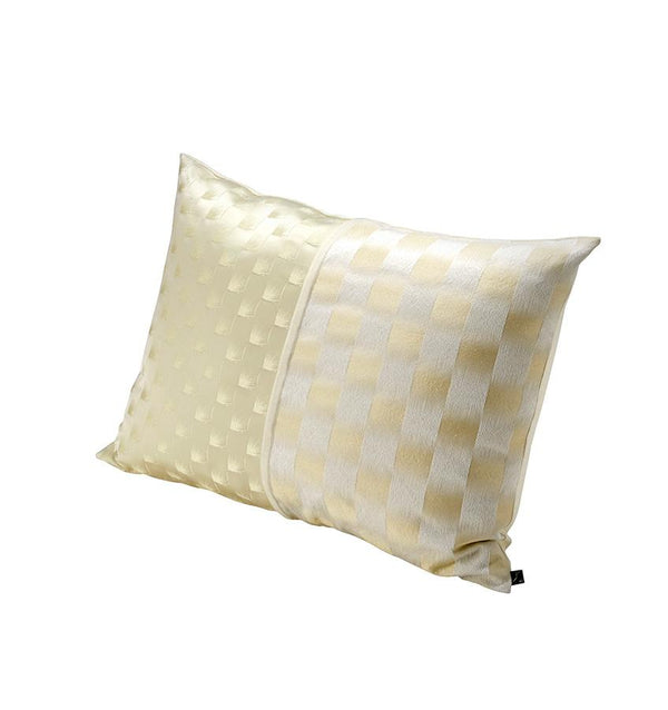K3 for SFERRA Gold and White Sateen Decorative Pillow