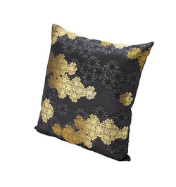 Three-dimensional floral clusters are woven against a supple jacquard fabric on the K3 for SFERRA Kori Decorative Pillow.