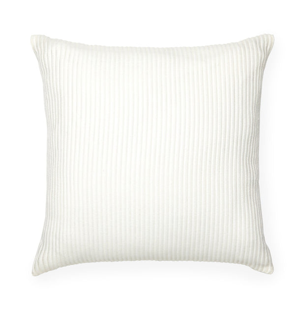Lucca Decorative Pillow features a woven stripe pattern in an elegant arrangement of alternating yarn weaves, adding dimension and tonal interest.