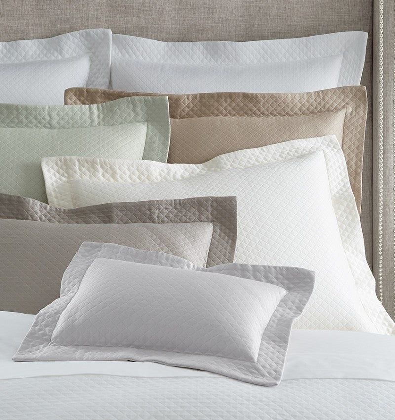 SFERRA Bari Coverlet features a diamond pique pattern with lustrous sheen and a softly finished hand.