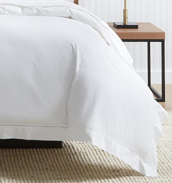 Analisa Duvet Cover in White is a best-selling cotton percale bedding at SFERRA.