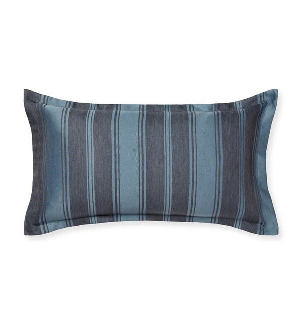 SFERRA Andria striped navy and black decorative pillow