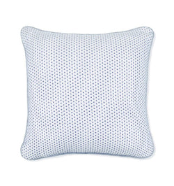 SFERRA Cordo Decorative Pillow, pure cotton interwoven with colored cotton chenille yarns that define a tiny diamond-star motif.