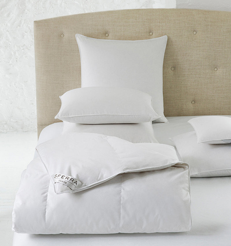 Filled with all-natural, white duck down, Dover is a great foundation for luxury bedding.