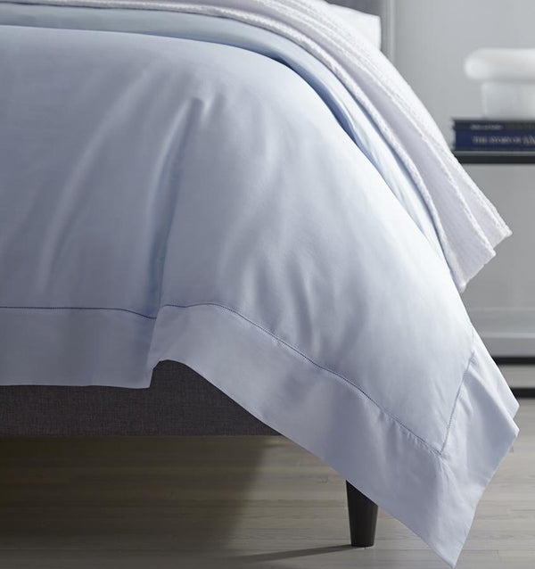 The SFERRA Fiona Duvet Cover crafted in Italy from long-staple cotton sateen.