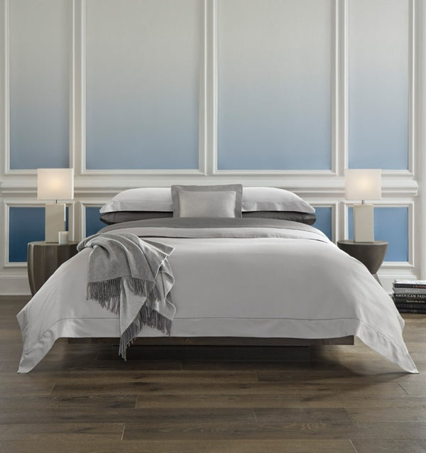 Giotto Sateen Duvet Cover has luminous sheen and luxe drape mark it as a bedding of the finest quality.