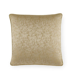 SFERRA Lustra Decorative Pillow features shimmering gilt jacquard is intricately woven with glinting threads.