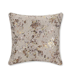 SFERRA Manto Decorative Pillow is embellished with glimmering painterly highlights that dapple flecks of metallic gold, silver, and bronze along its surface.