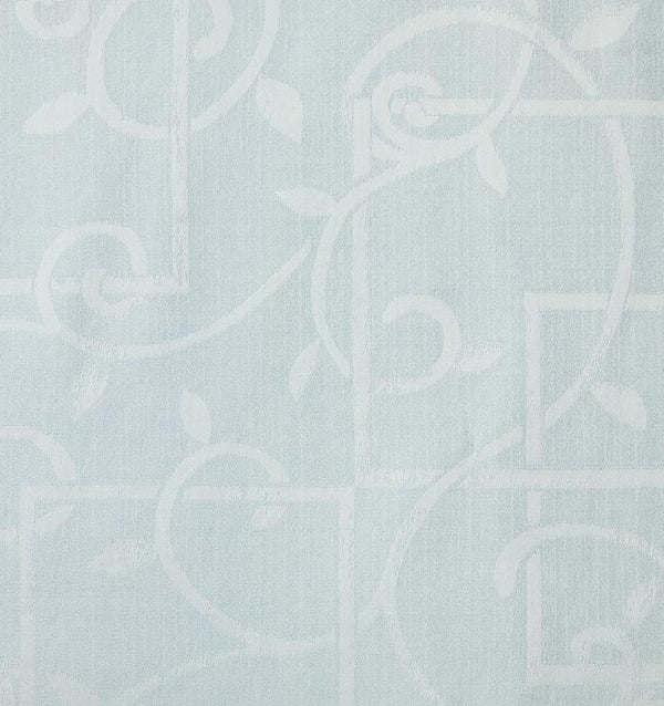 Light blue SFERRA Graticcio fabric with a white trelis pattern.