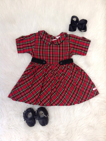 Tristan Plaid Babydoll Dress