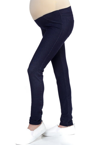Knit Denim Maternity Pants