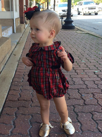 Tristan Plaid Romper
