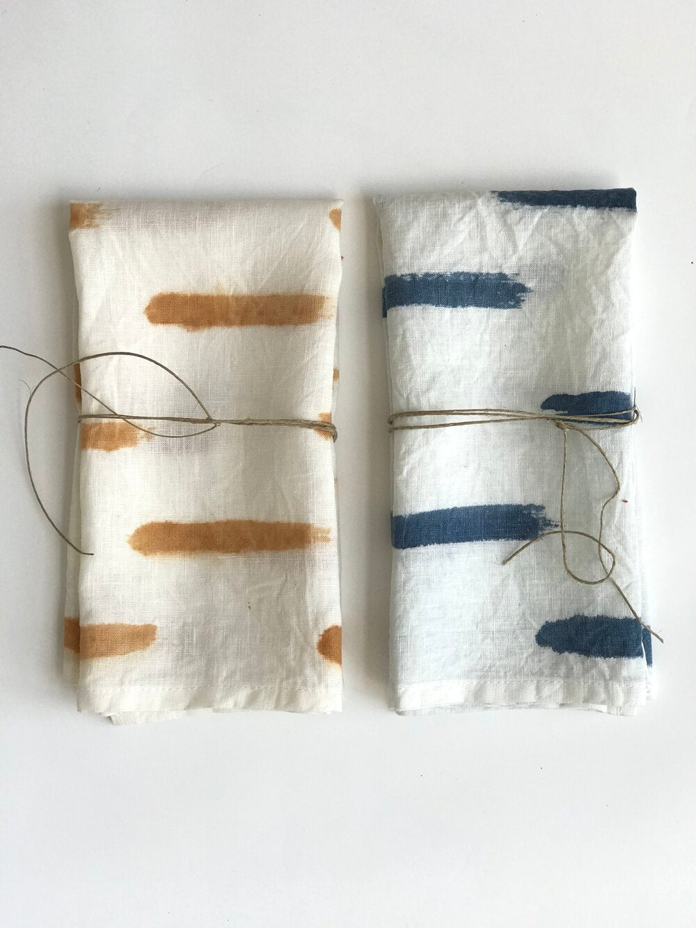 Dashes Plant Dyed Linen Napkins