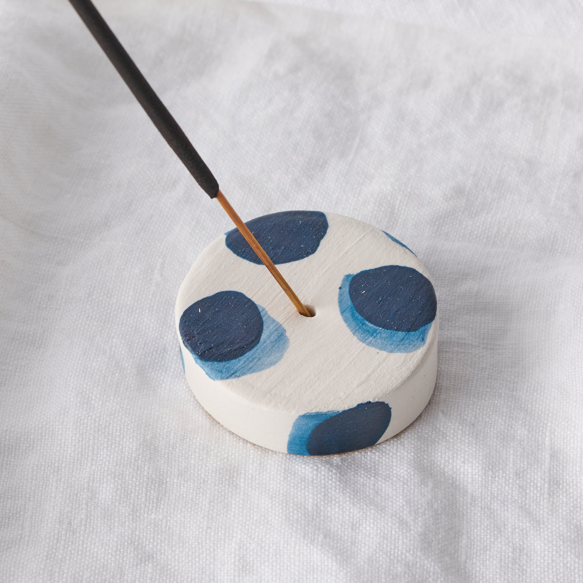 Blue Watercolour Incense Burner