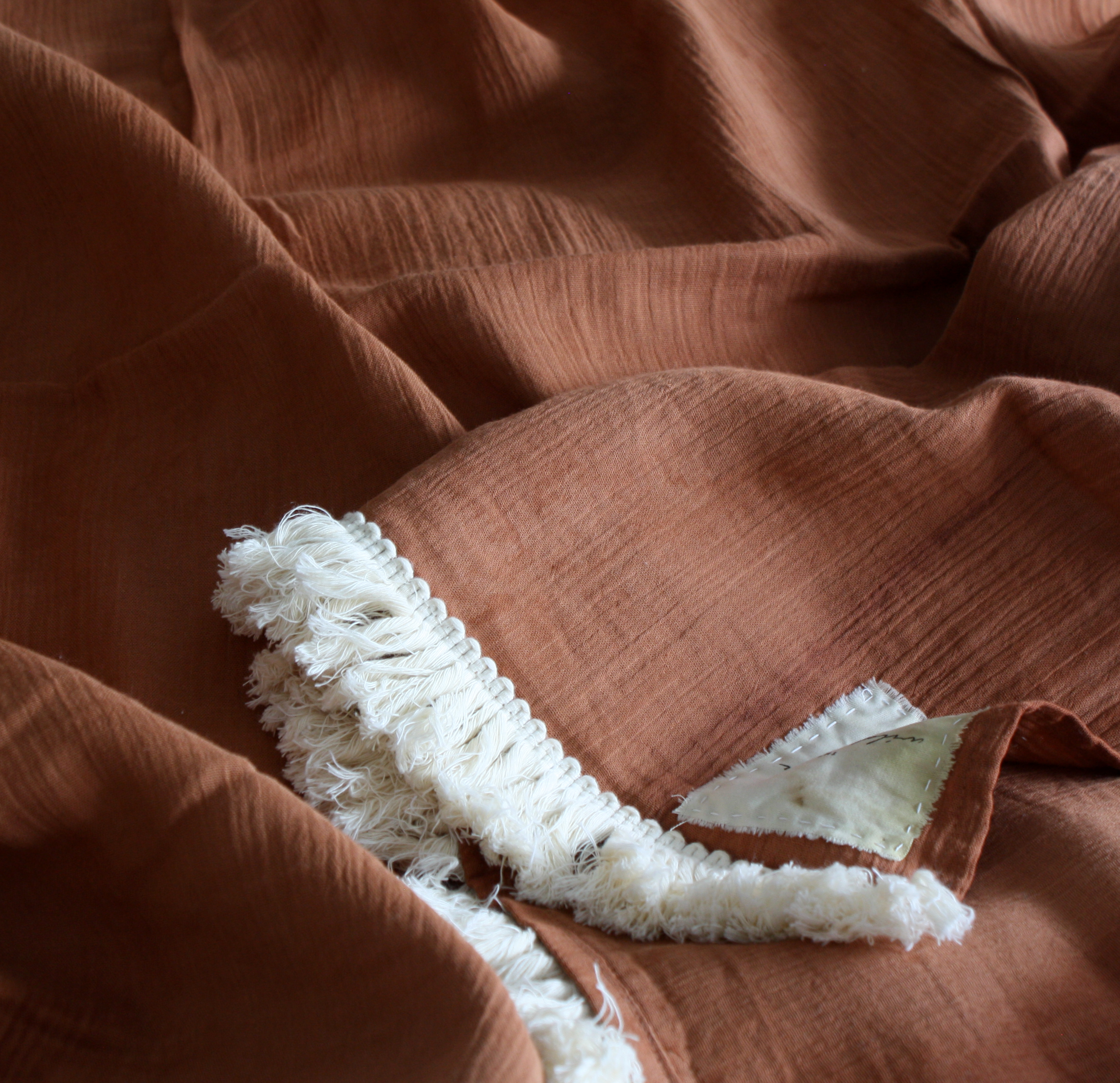 Botanically Dyed Fringe Throw