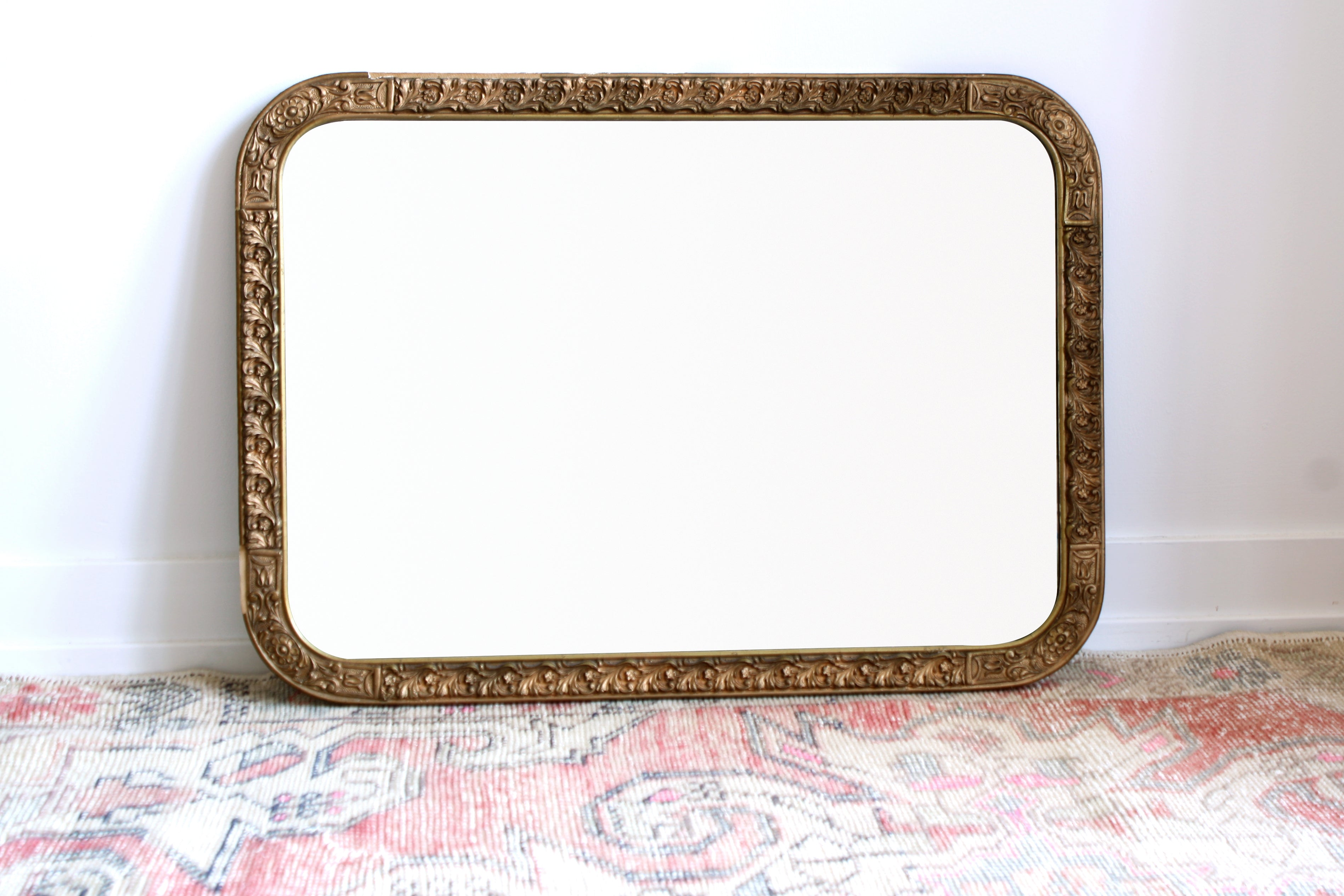 Large Shabby Antique Mirror