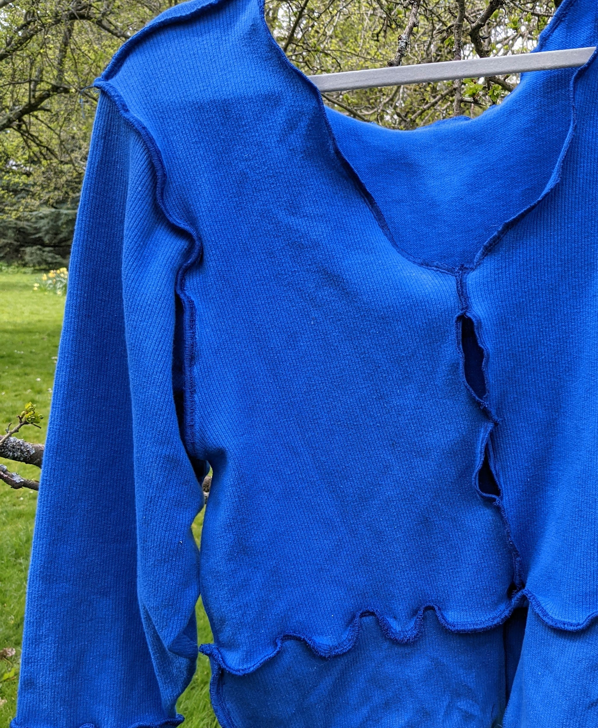 Blue patchwork sweatshirt - Sizes 8-14 - Wain's Worldwide
