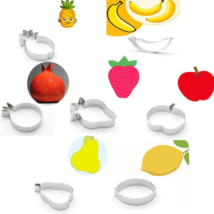 7 Pcs/Set Fruit Shaped Cookie/Biscuit Cutters