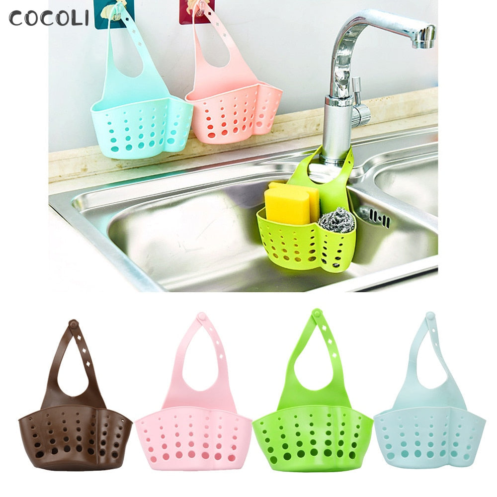 Baskets Portable Home Kitchen Hanging Drain Bag Basket Bath Tools Sink Holder popular useful Storage  shelving