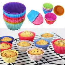 Load image into Gallery viewer, 12pcs Colorful  Muffin or Cupcake Liner