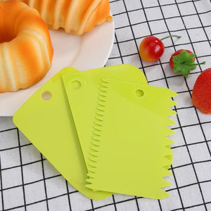 3pcs Multi-function Dough Cutter Set