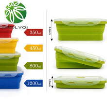 Load image into Gallery viewer, Colorful Folding Silicone Food Container
