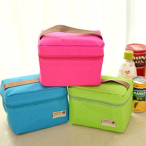 Portable Thermal Insulated Lunch Bag Use to carry food to school/work, or outdoor picnics