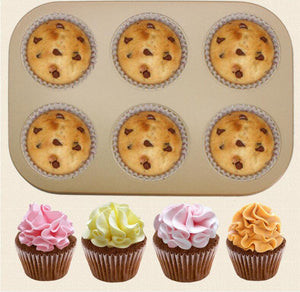 Muffin Pastry Mold Bakeware Shaped Cupcake Baking Pans Assorted Styles