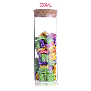 Transparent Sealable Glass Jars