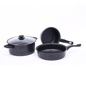 3Pcs/set Maifan Stone Stockpot Nonstick