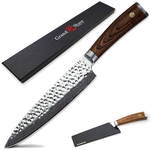 Professional Japanese vg10 Damascus Steel Chef Knife Set with Gift Box