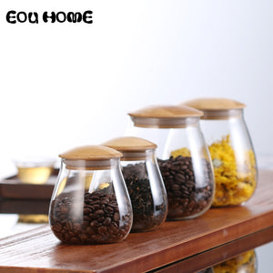 Mushroom Shape Glass Storage Jars