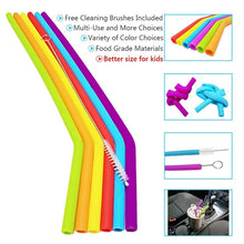 Load image into Gallery viewer, Food Grade Silicone Drinking Straws