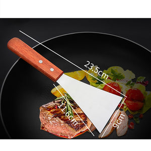 Stainless Steel Spatula With Wood Handle For Grill/Griddle/Pie Server