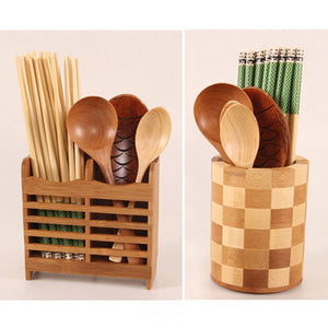 Multi-function Bamboo Utensil/Cutlery Storage or Drain Rack Environmentally friendly