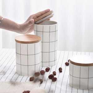 Nordic Style Ceramic Tea Boxes/Spice Storage Assorted Sizes