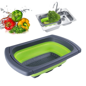 Silicone Collapsible Over The Sink Colander