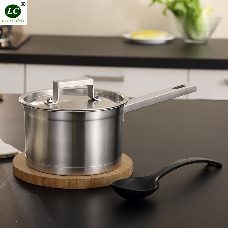 Casserole Stainless Steel Saucepan Cooking Pan Milk Pot Kitench Utensil Cookware Pot Inox 1.5L /2L
