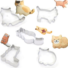 Load image into Gallery viewer, 5 Pcs Cat Shaped Cookie Cutters