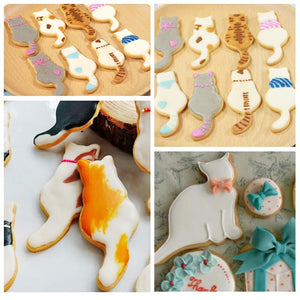 5 Pcs Cat Shaped Cookie Cutters