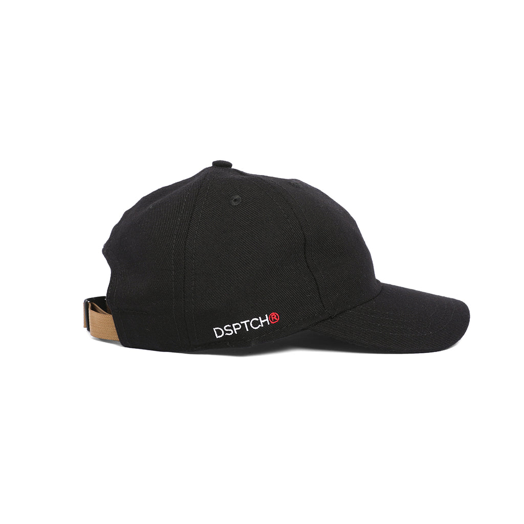 DSPTCH 6 Panel Hat - Black Twill