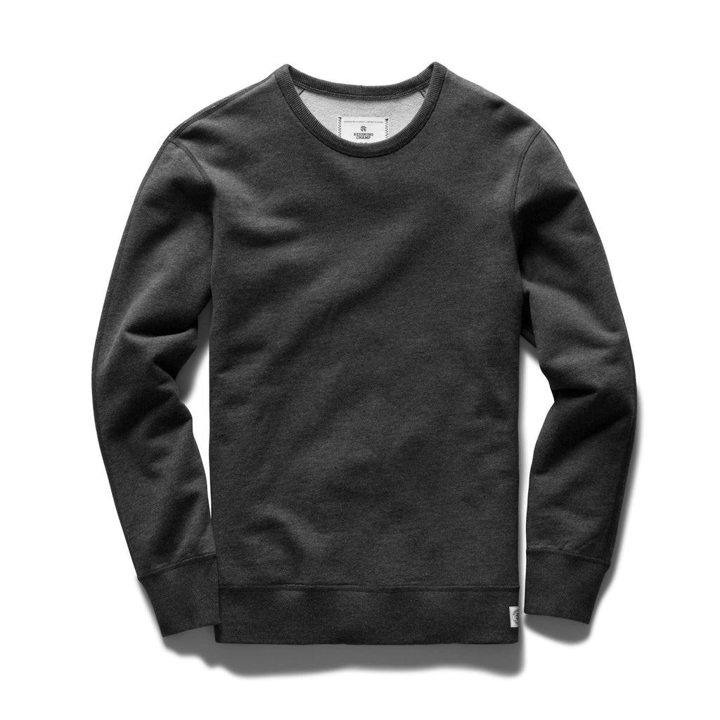 Reigning Champ Midweight Crewneck - Charcoal