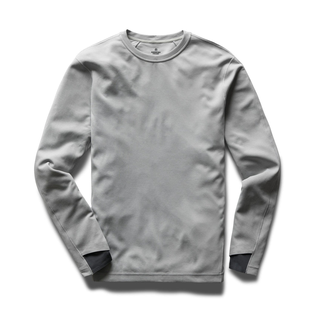 Reigning Champ - Performance Long Sleeve T-Shirt - Heather Grey
