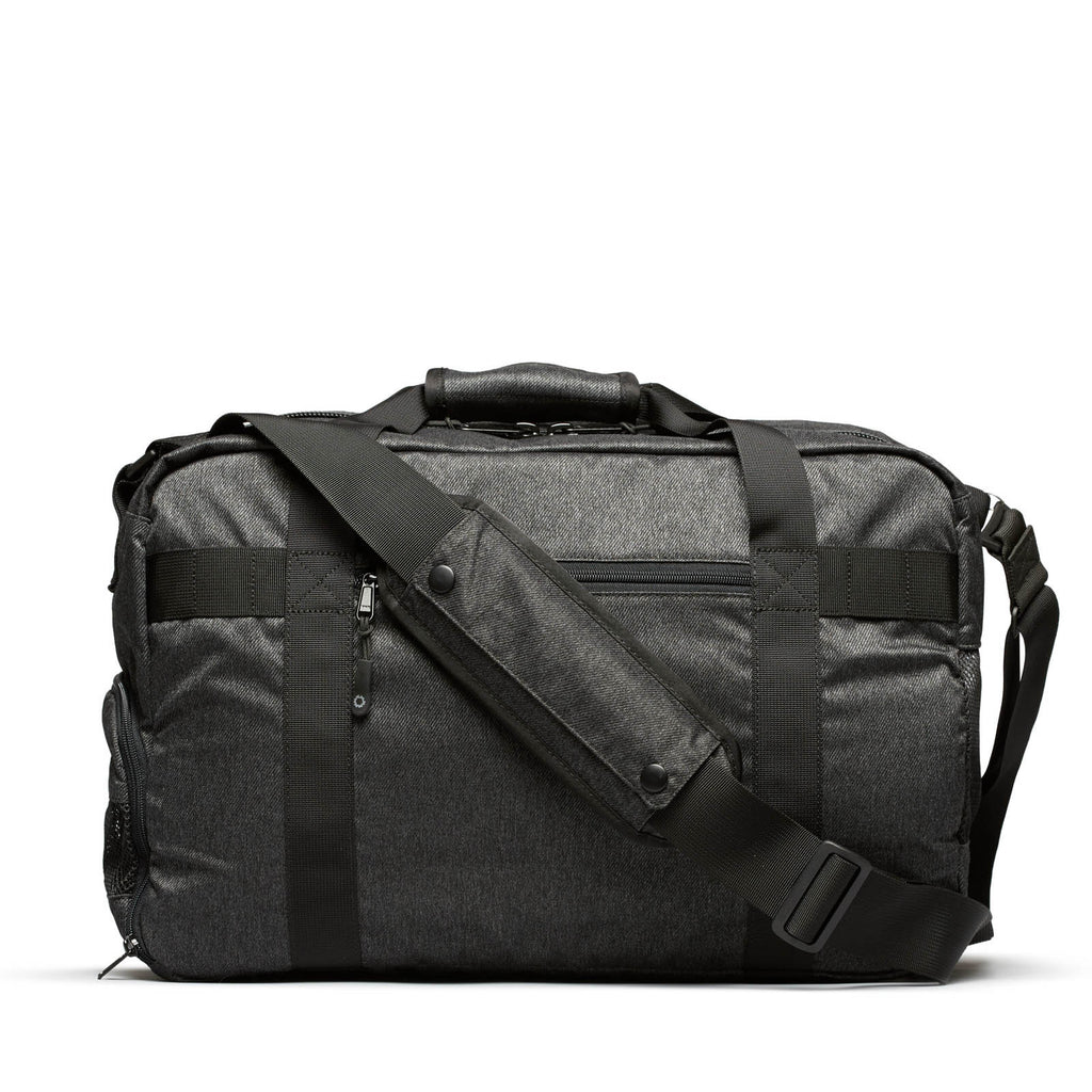 Gym Bag For Work: Charcoal Speckled Twill